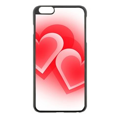 Heart Love Romantic Art Abstract Apple Iphone 6 Plus/6s Plus Black Enamel Case
