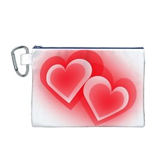 Heart Love Romantic Art Abstract Canvas Cosmetic Bag (m)