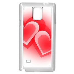 Heart Love Romantic Art Abstract Samsung Galaxy Note 4 Case (white)