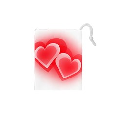 Heart Love Romantic Art Abstract Drawstring Pouches (xs)