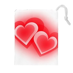 Heart Love Romantic Art Abstract Drawstring Pouches (extra Large)