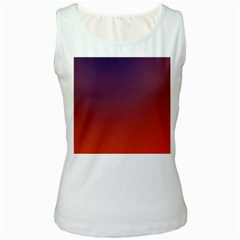 Course Colorful Pattern Abstract Women s White Tank Top