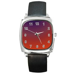 Course Colorful Pattern Abstract Square Metal Watch