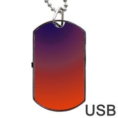 Course Colorful Pattern Abstract Dog Tag Usb Flash (one Side)