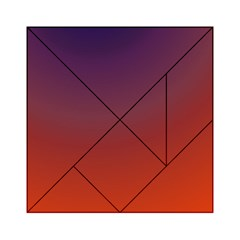 Course Colorful Pattern Abstract Acrylic Tangram Puzzle (6  X 6 )