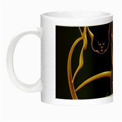 Gold Dog Cat Animal Jewel Dor¨| Night Luminous Mugs