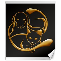 Gold Dog Cat Animal Jewel Dor¨| Canvas 20  X 24