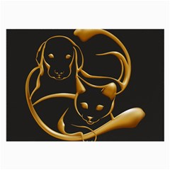 Gold Dog Cat Animal Jewel Dor¨| Large Glasses Cloth