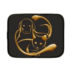 Gold Dog Cat Animal Jewel Dor¨  Netbook Case (small)