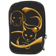 Gold Dog Cat Animal Jewel Dor¨| Compact Camera Cases