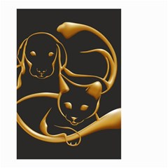 Gold Dog Cat Animal Jewel Dor¨| Small Garden Flag (two Sides)