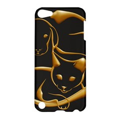 Gold Dog Cat Animal Jewel Dor¨| Apple Ipod Touch 5 Hardshell Case