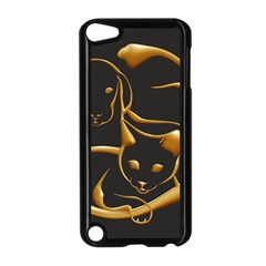 Gold Dog Cat Animal Jewel Dor¨| Apple Ipod Touch 5 Case (black)