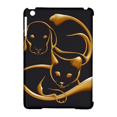 Gold Dog Cat Animal Jewel Dor¨| Apple Ipad Mini Hardshell Case (compatible With Smart Cover)