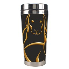 Gold Dog Cat Animal Jewel Dor¨| Stainless Steel Travel Tumblers