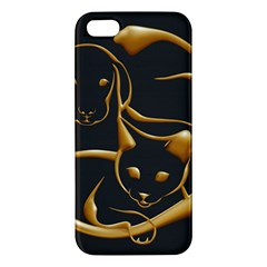 Gold Dog Cat Animal Jewel Dor¨| Iphone 5s/ Se Premium Hardshell Case