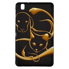 Gold Dog Cat Animal Jewel Dor¨  Samsung Galaxy Tab Pro 8 4 Hardshell Case