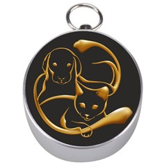 Gold Dog Cat Animal Jewel Dor¨| Silver Compasses