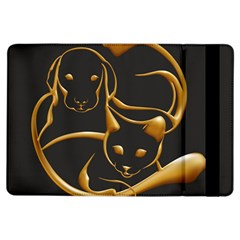 Gold Dog Cat Animal Jewel Dor¨| Ipad Air Flip