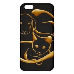 Gold Dog Cat Animal Jewel Dor¨| Iphone 6 Plus/6s Plus Tpu Case
