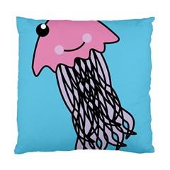 Jellyfish Cute Illustration Cartoon Standard Cushion Case (two Sides)