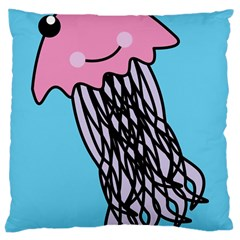 Jellyfish Cute Illustration Cartoon Large Cushion Case (two Sides)