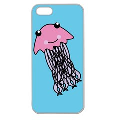 Jellyfish Cute Illustration Cartoon Apple Seamless Iphone 5 Case (clear)