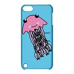 Jellyfish Cute Illustration Cartoon Apple Ipod Touch 5 Hardshell Case With Stand