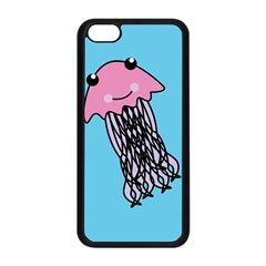 Jellyfish Cute Illustration Cartoon Apple Iphone 5c Seamless Case (black)