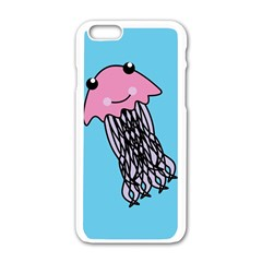 Jellyfish Cute Illustration Cartoon Apple Iphone 6/6s White Enamel Case