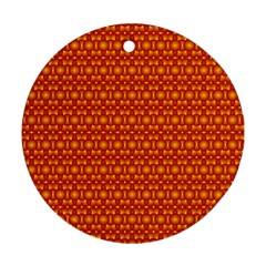 Pattern Creative Background Round Ornament (two Sides)