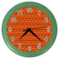 Pattern Creative Background Color Wall Clocks