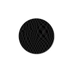 Pattern Dark Black Texture Background Golf Ball Marker (4 Pack)