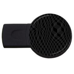 Pattern Dark Black Texture Background Usb Flash Drive Round (4 Gb)