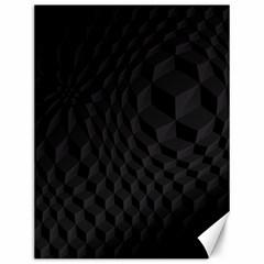 Pattern Dark Black Texture Background Canvas 12  X 16