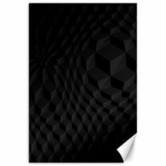 Pattern Dark Black Texture Background Canvas 20  X 30