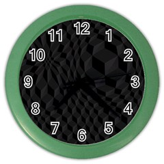 Pattern Dark Black Texture Background Color Wall Clocks