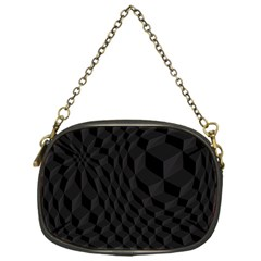 Pattern Dark Black Texture Background Chain Purses (one Side)