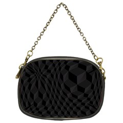 Pattern Dark Black Texture Background Chain Purses (two Sides)