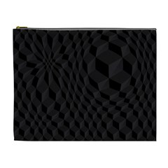 Pattern Dark Black Texture Background Cosmetic Bag (xl)
