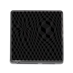 Pattern Dark Black Texture Background Memory Card Reader (square)
