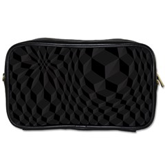 Pattern Dark Black Texture Background Toiletries Bags 2 Side