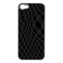 Pattern Dark Black Texture Background Apple Iphone 5 Case (silver)