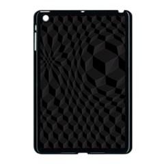 Pattern Dark Black Texture Background Apple Ipad Mini Case (black)