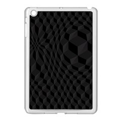 Pattern Dark Black Texture Background Apple Ipad Mini Case (white)