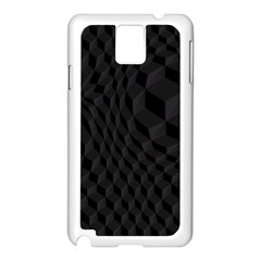 Pattern Dark Black Texture Background Samsung Galaxy Note 3 N9005 Case (white)