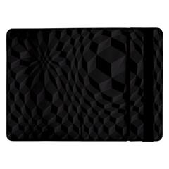 Pattern Dark Black Texture Background Samsung Galaxy Tab Pro 12 2  Flip Case