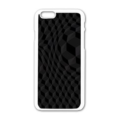 Pattern Dark Black Texture Background Apple Iphone 6/6s White Enamel Case