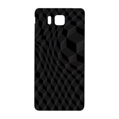 Pattern Dark Black Texture Background Samsung Galaxy Alpha Hardshell Back Case