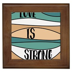 Love Sign Romantic Abstract Framed Tiles